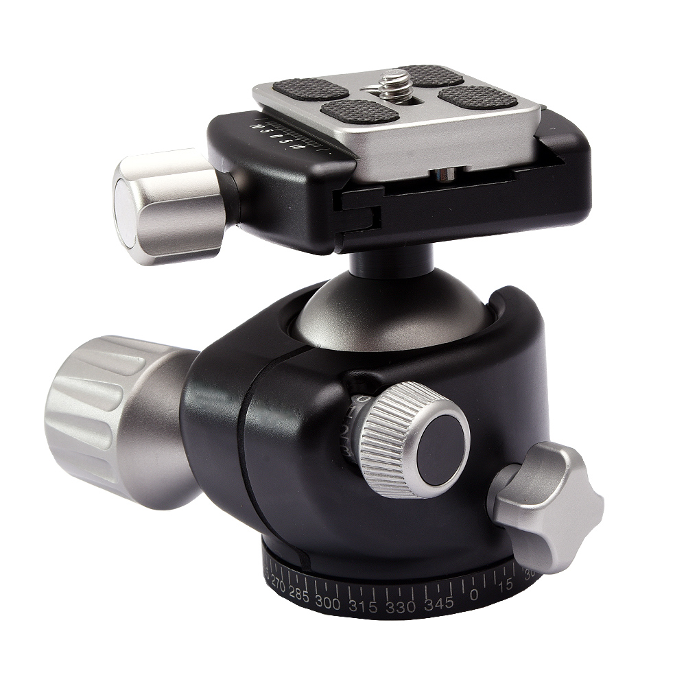 Aluminum Alloy Camera Low Profile Tripod Ball Head Panoramic as RRS BH 40 XB 44 XB