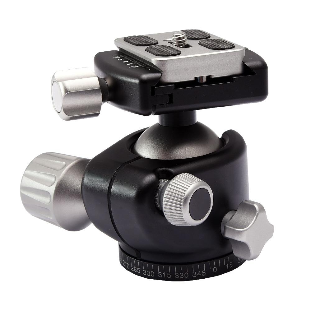 Aluminum Alloy Camera Low Profile Tripod Ball Head Panoramic as RRS BH-40 XB-44 XB-2 G2 LH-40 Compact Ballhead x556uak xb