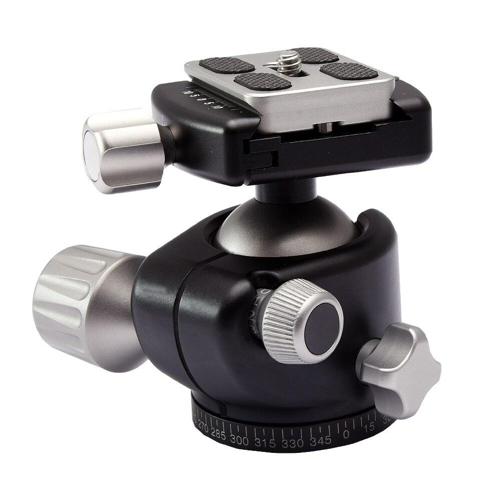 Tête à rotule de trépied de profil bas d'appareil photo d'alliage d'aluminium panoramique comme RRS BH 40 XB 44 XB 2 G2 LH 40 tête à billes compacte-in Tête de trépied from Electronique    1