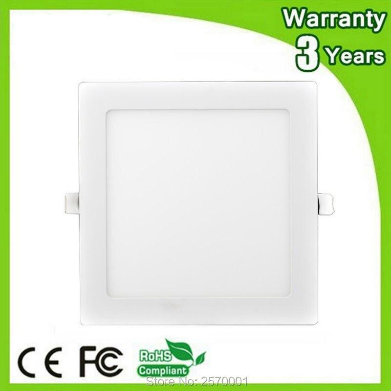 100 110лм/Вт 3 года гарантии квадратный светодиодный светильник 24 Вт Светодиодная панель потолочный светильник COB прожектор лампа