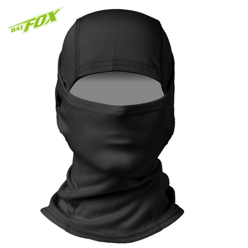 Prix pour 2017 BATFOX Visage Masque Anti-pollution Sports de Plein Air De Bicyclette De Vélo Masque Respirant Polyester Coupe-Vent De Protection Écran Facial