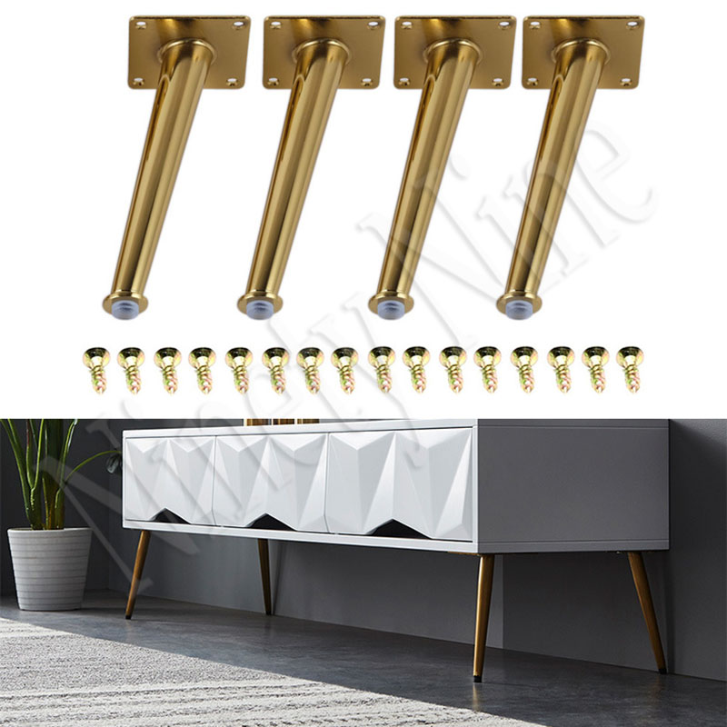 4Pcs Furniture Legs Sofa Legs 200MM Furniture Feet Replacement Legs With Leg For Sofa Cabinet Couch Ottoman Coffee Table Bench
