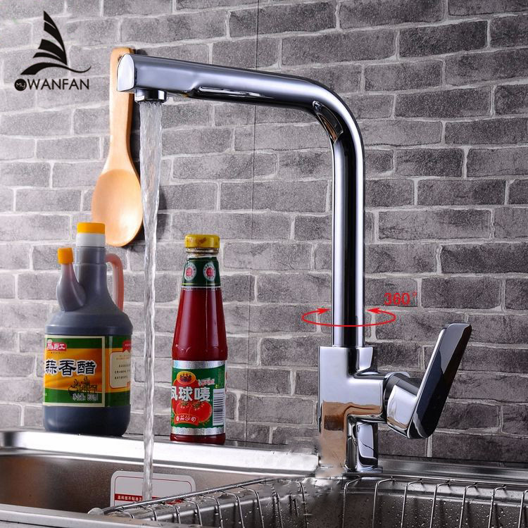 ФОТО Free Shipping New Concept Chrome Single Lever Kitchen Swivel Sink Mixer Tap Faucet Vessel Vanity Faucet  kitchen faucet HJ-8046