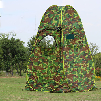 3Windows Portable Privacy Shower Toilet Camping Pop Up Tent Camouflage/UV function outdoor dressing tent/photography tent quick opening dressing shower fishing tent one touch waterproof camping toilet changing room with carrying bag