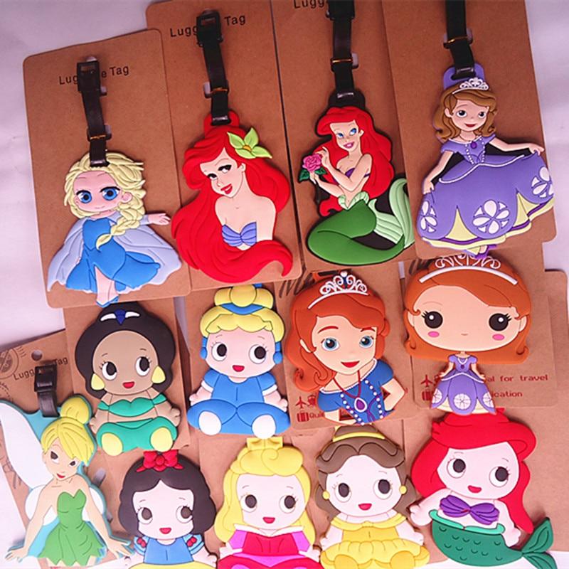 2018 Suitcase Travel Accessories Luggage Tag Snow Princess Series Cinderella Fairy Tale Sophia Baggage Boarding Portable Label