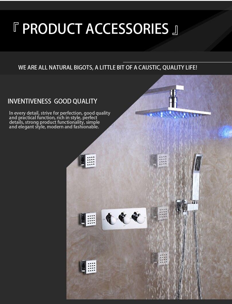 Bath & Shower Faucet Set Easy-Installation Shower System LED Rain ...