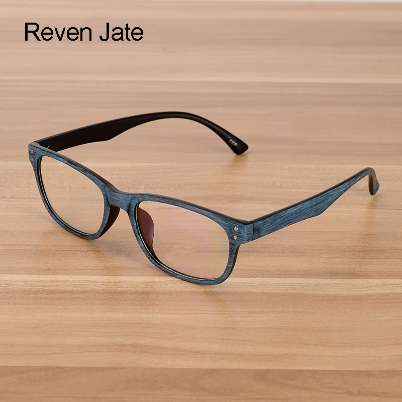 Reven Jate Men And Women Unisex Wooden Pattern Fashion Retro Optical Spectacles Eyeglasses Glasses Frame