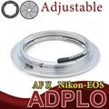 Pixco el segundo ajustable AF confirmar traje adaptador para Nikon AI a Canon EOS 60D 40D 50D 60Da 550D 600D 7D 5DII cámara