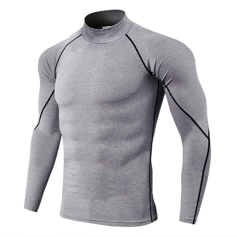 Sous-vêtement thermique pour hommes col haut camiseta termica sport thermo chemise séchage rapide sous-vêtements compressés hommes bielizna