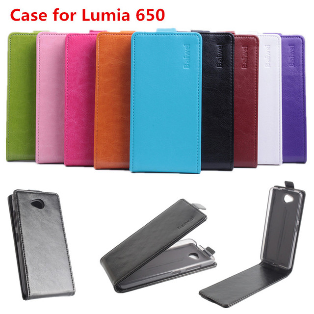 buy online d4a3a d2807 US $7.09 29% OFF|9 Colors High Quality Luxury Leather Case For Microsoft  Nokia Lumia 650 Flip Cover Case With Lumia650 Cellphone Cover Phone Case-in  ...