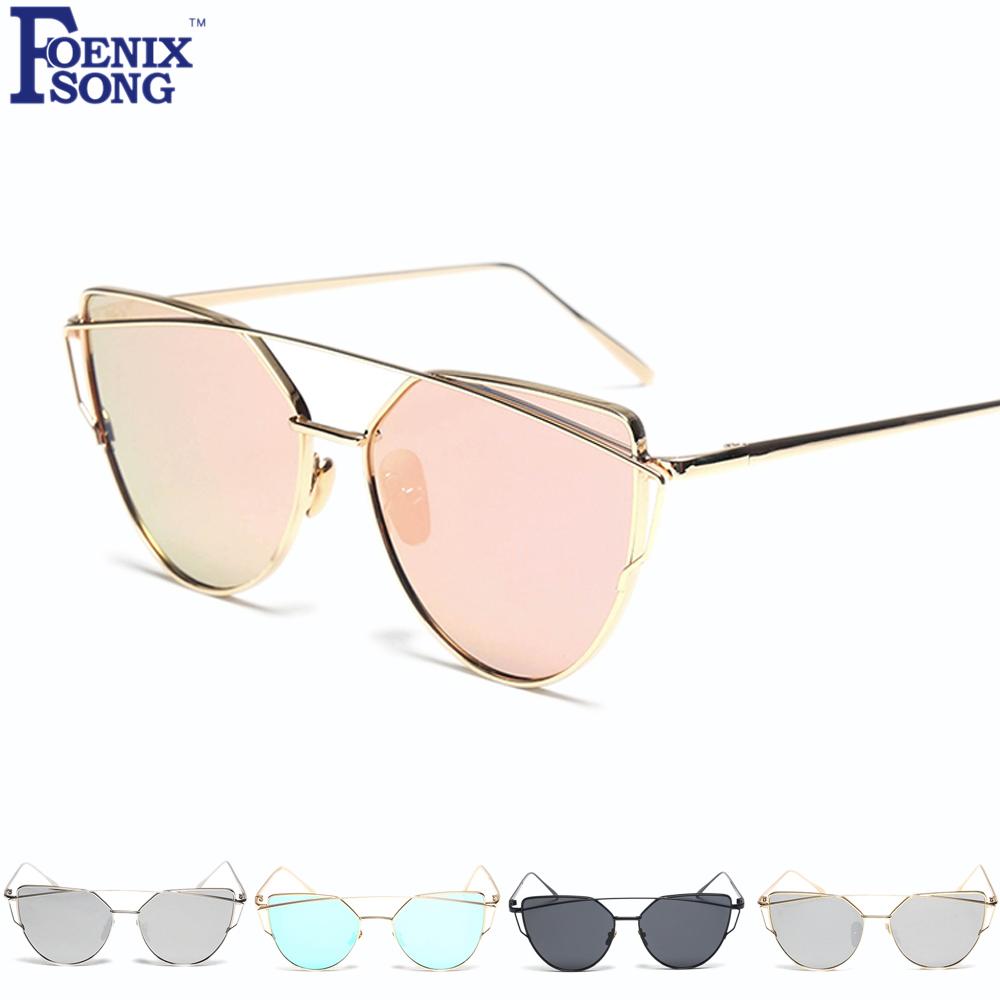 cc9dd8a5194b9 FOENIXSONG Unisex Cat Eye Glasses 2018 New Women Men Driving Sunglasses  Brand UV400 Mirror Sun Eyeglasses Oculos Gafas