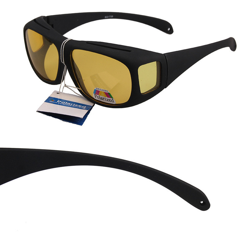 761c8db40ffd UNISEX POLARIZED FIT glasses OVER SUNGLASSES DRIVING Large Size Wraparound  Safety Glasses Over Prescription Running Sunglasses