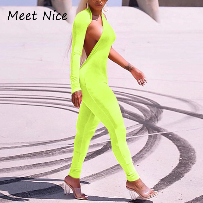 e1a39cc6f122 Long Jumpsuits For Women 2018 Sexy Hollow Out Halter Jumpsuit Long Pants  Playsuit Skinny Lady Rompers