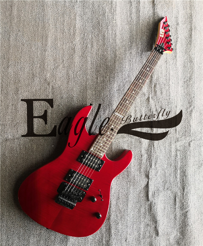 Eagle. Butterfly electric guitar, electric bass Custom Shop Metal Rock Red Double Rock Anti-piano Head Electric Guitar in Stock