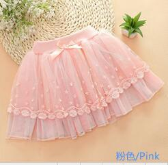 Pearl lace princess  girls veil half-length skirt new hand-beaded skirt children
