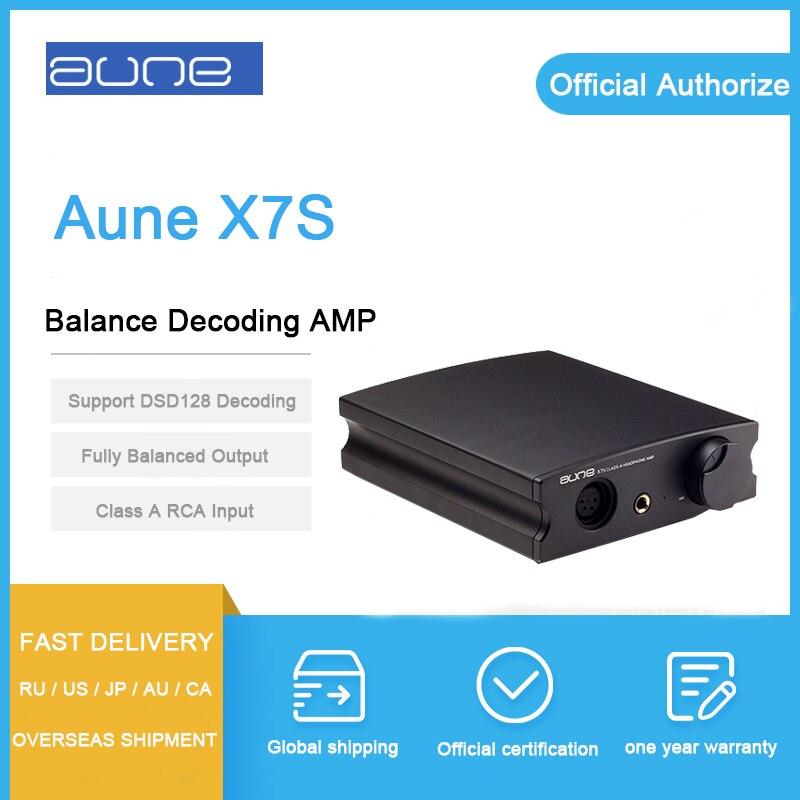 Aune X7S баланс усилитель для наушников Класса RCA Вход баланс Выход 6,35 мм усилитель для наушников