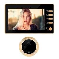 Doorbell deurbel met camera video peephole door viewer 4.3 inch TFT LCD IR Night Vision 3 Modes Video Recording Photos Taking