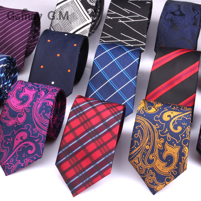 Paisley Flowe Ties For Men Fashion Jacquard Classic Neck Ties Blue Red Necktie For Gift Party Stripe Plaid Male Suits Tie