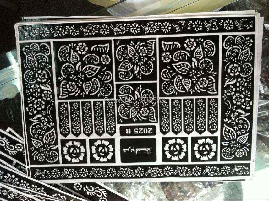 hma042 Template professional Henna tatoo paste, new Body art Painting Kit supplies - The Muslim world store