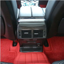 Carbon Fiber Style Rear Row Air Conditioning Vent Outlet Frame Cover For Land Rover Range Rover Velar 2017-2018 Car Accessories