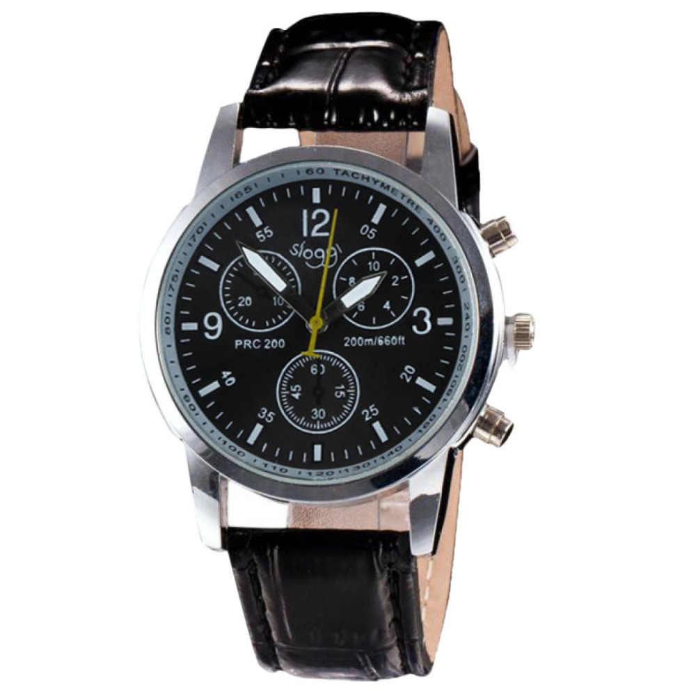 Luxo moda crocodilo falso couro masculino relógio analógico relógios de pulso 115