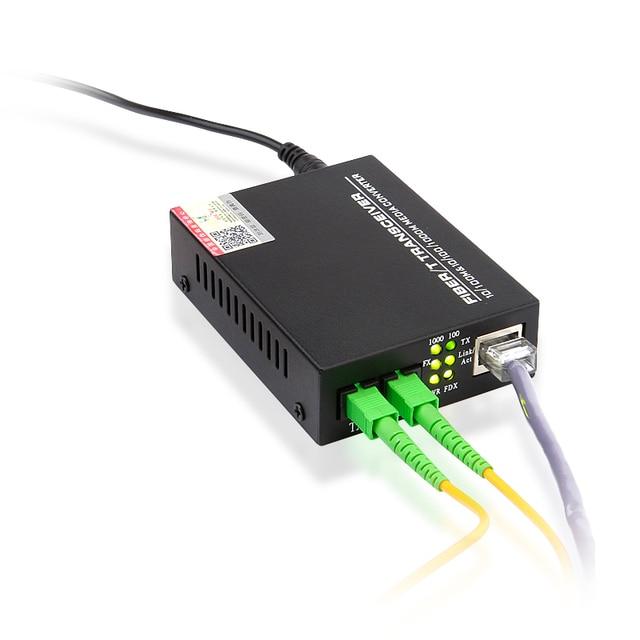 HTB-1100S Optical Media Converter 10/100Mbps RJ45 Single Mode Duplex Fiber SC port Converter 25KM