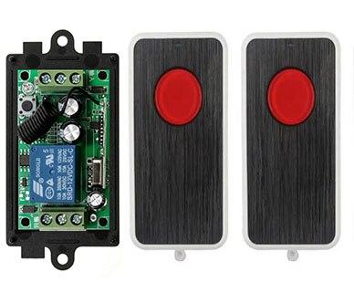 DC12V 10A 1CH RF Sistema de Interruptor de Control Remoto Transmisor 2X teleswit