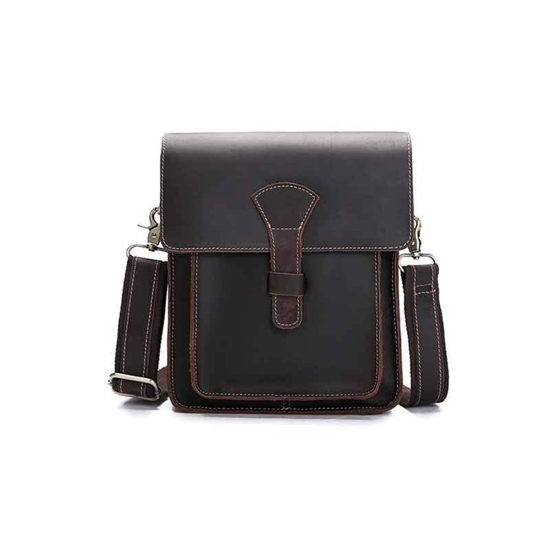 Neweekend Crazy Horse Leather Men's Crossbody Bag Cowhide Sling Chest Bag Vintage Genuine Leather Male Shoulder Messenger BF1106 bf гамак двухместный vintage