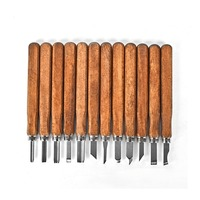 New Professional 12Pcs Wood Carving Chisel Set Best Recommended Wood Carving Knife Kit For Beginner Power