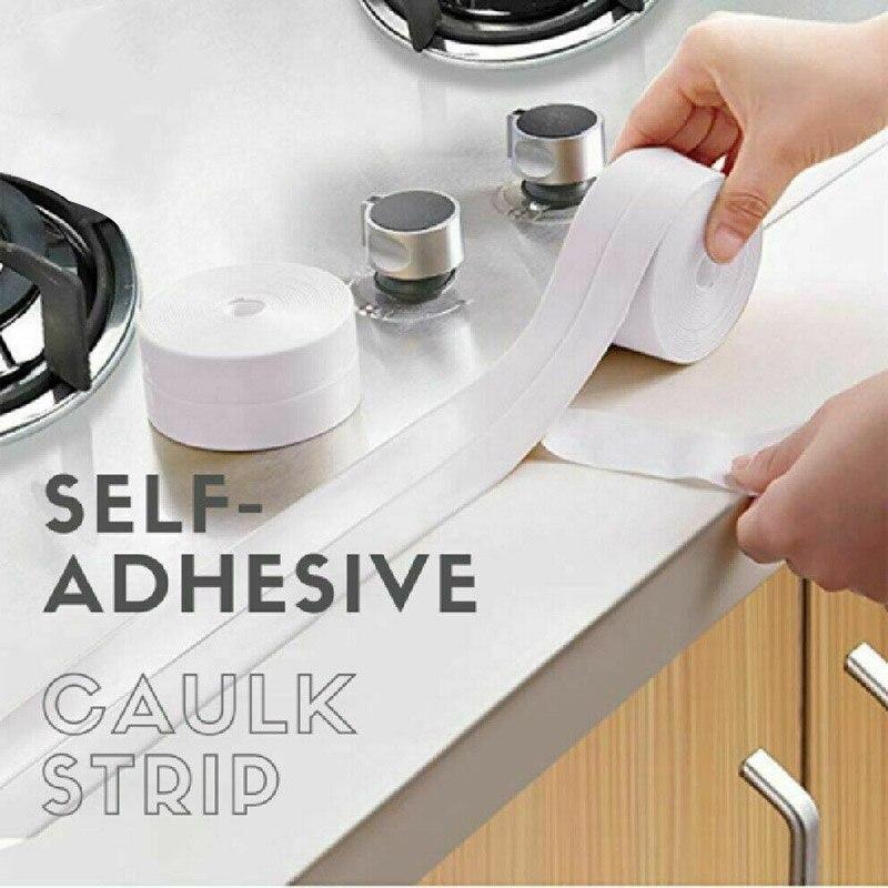 Professional Self-Adhesive Caulk Strip Waterproof For Kitchen Bathroom Corner Nastro Di Muffa Per Cucina UYT Shop