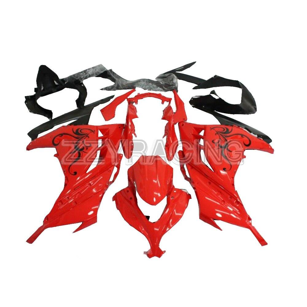 Injectie Stroomlijnkappen Kits voor Kawasaki EX300R 2013 2017 Jaar Volledige ABS Plastic Motor Speciale Schilderen Panel Kits Rode Cowlings
