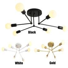 Скандинавский кованый светодиодный светильник-люстра кухонный светильник светодиодный светильник прикроватная лампа лампы филиал светильник E27