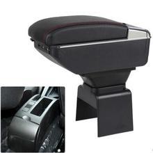 Автомобиля подлокотник Поддержка коробка для хранения лоток центр Console Подлокотник кожа для peugeot 307