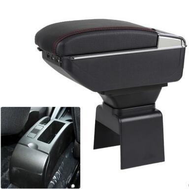 Support de repose-bras de voiture plateau de rangement Console centrale accoudoir en cuir pour Peugeot 307