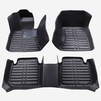 Custom fit car floor mats for Ford  Escape Kuga Fusion Mondeo Ecosport Explorer Focus Fiesta car styling carpet liner RY38