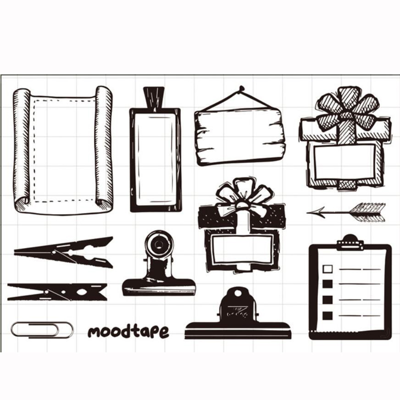 ZFPARTY Notes Transparent Clear Silicone Stamp/Seal for DIY scrapbooking/photo album Decorative card making lovely animals and ballon design transparent clear silicone stamp for diy scrapbooking photo album clear stamp cl 278