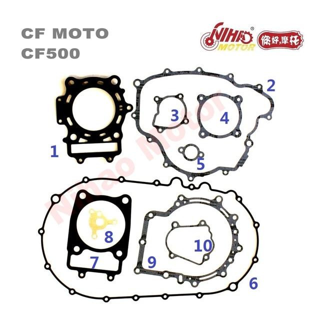 CFMoto Parts CF500 Engine Full Gasket CF500 CF188 500cc for CF 500 Motor ATV UTV GOKART 500cc Engine Spare