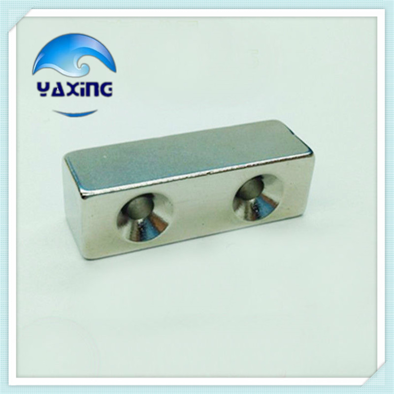 10 Stk Starke Neodym Magnete N52 20x10x5mm Loch 5mm Quader Magnet Für Pinnwand