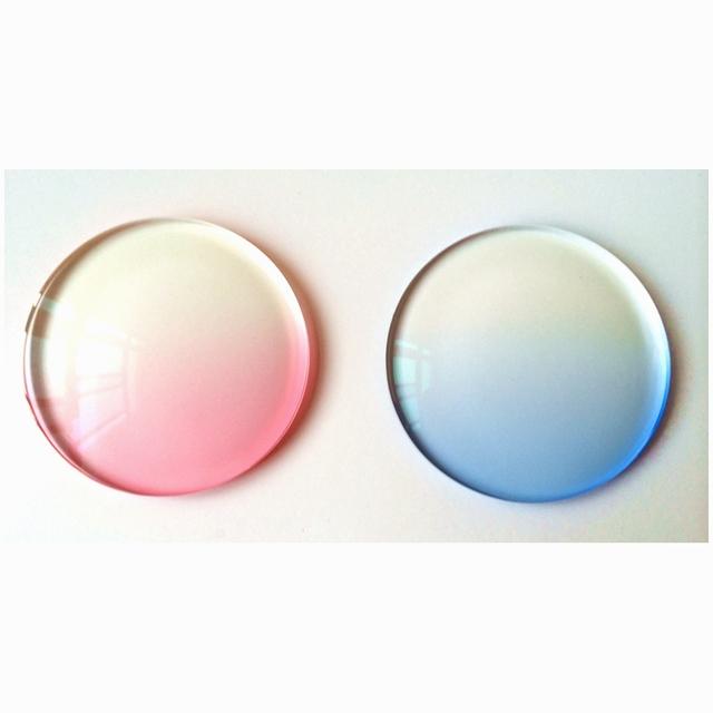 1.67 Índice fina personalizar óculos de Prescrição de Lentes de Resina Coloridas lente óptica Visão Única lente Tintométrico