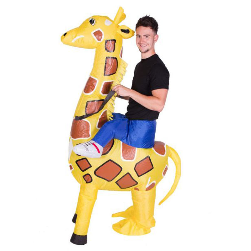 Inflatable Giraffe Costumes for Adult Ride on Cosplay Suits Animal Fancy Dress Halloween Carnival Party Airblown Costume Outfits clown inflatable costumes halloween witch party stage clothes for men women carnival father unisex dress up fancy stuffed toys
