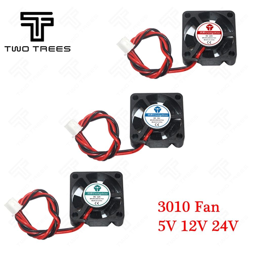3d Drucker Fan 3d Drucker Teil Fan 2 Pins 30mm 1 Stücke/viel 3 Cm Grafikkarte Lüfter 3010: Dc 5 V/12 V/24 V 30x30x10mm