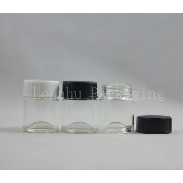 10g Alami Berwarna Putaran Botol Kaca Mata Cream Pot Contoh Dengan