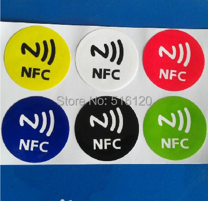 (6 pcs/lot) NFC Tags Stickers Ntag216 13.56mhz Rfid Tag Card for Samsung galaxy s5 Note3 S4 Sony Xperia Nokia Nexus4/5 LG HTC