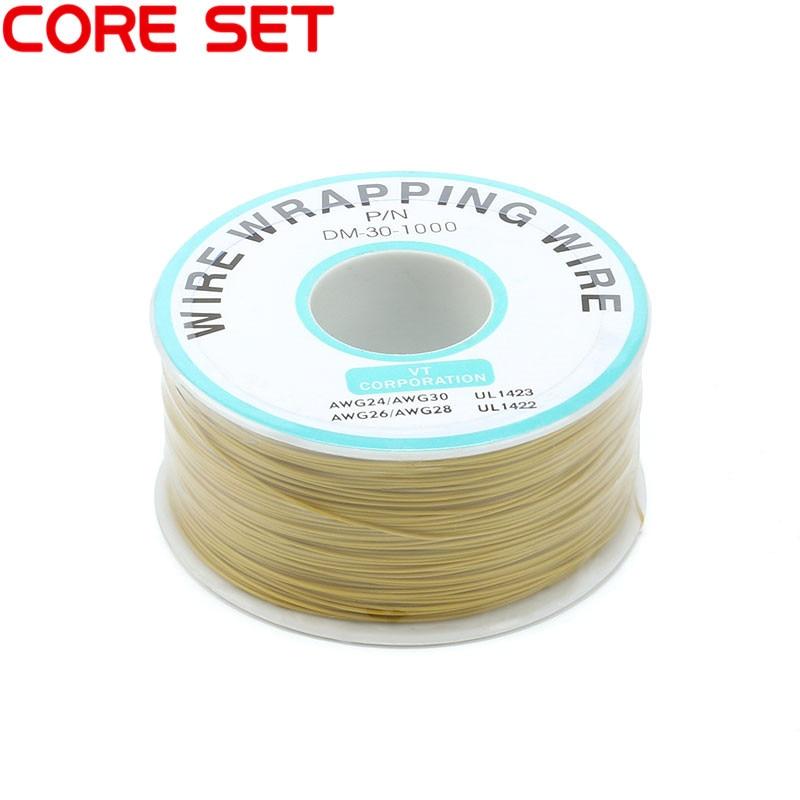 250 м/лот 30 AWG оберточный провод 10 цветов одножильный медный кабель Ok провод электрический провод для ноутбука Материнская плата PCB припой - Цвет: Yellow