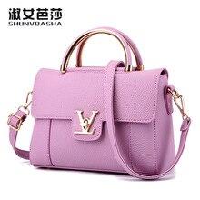 Hot fashion design hasp locks with V letter handbag flap bag  elegant lady women's handbag shoulder bag messenger bag