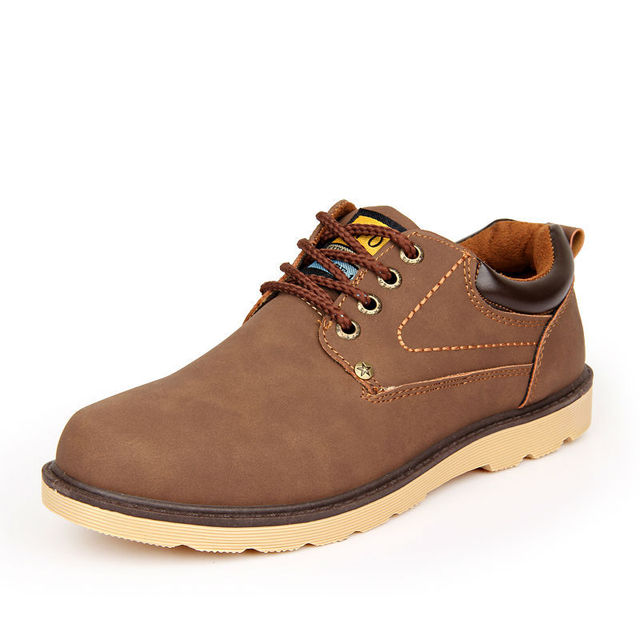 Hot 2017 Spring Autumn Men Leather Casual Shoes British Fashion Men Lace-Up Waterproof Shoes Man Retro Low Top Breathable Shoes