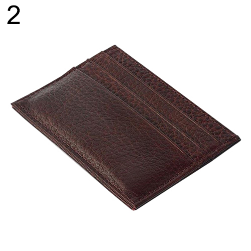 Men's Slim Credit Card Holder Faux Leather Wallet Coin Pocket Money Bag PurseMujer portafoglio billetera bourse bolso homme
