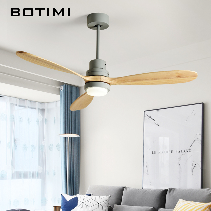 BOTIMI Nordic 52 Inch LED Ceiling Fan For Living Room Modern Remote Cooling Ceiling Fans Home Lighting Fan Lamps Fixtures BOTIMI Nordic 52 Inch LED Ceiling Fan For Living Room Modern Remote Cooling Ceiling Fans Home Lighting Fan Lamps Fixtures