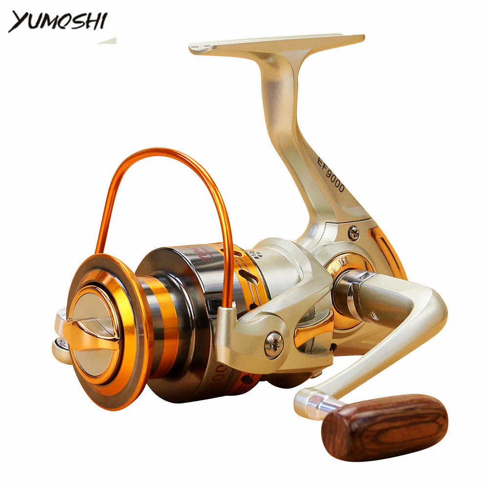 YUMOSHI 12 BB Fishing Reel Left/Right  Collapsible Handle Fishing Spinning Reel Ultra Light Smooth Rock Fishing Reel
