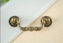 Furniture Hardware Antique Bronze Drawer Cabinet Handle Classical Type ( L:90MM C.C:64MM )
